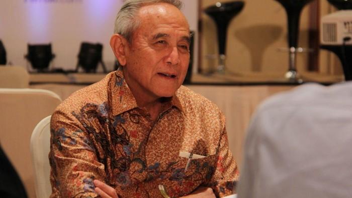 Theodore Permadi Rachmat atau TP Rachmat dalam acara Wealth Wisdom di Hotel Ritz Carlton Pacific Place, Jakarta.