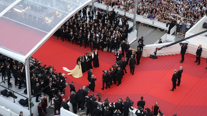 Red carpet premiere film Money Monster di Festival Film Cannes ke-69 yang digelar di Palais des Festivals, Cannes, Prancis, Kamis (12/5/2016) waktu setempat.
