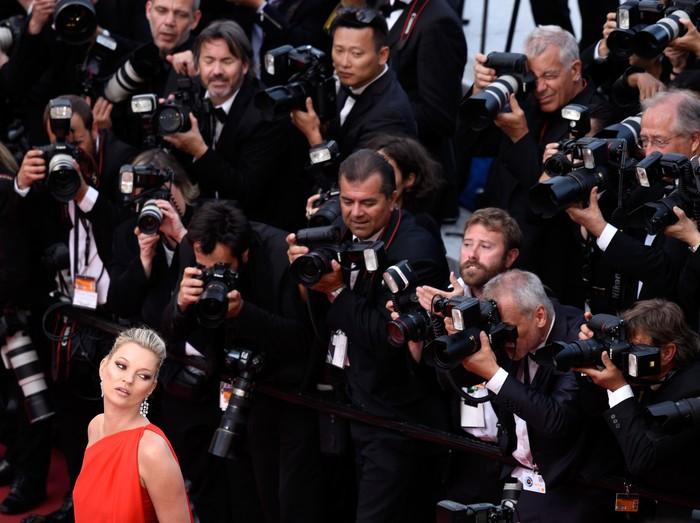 CANNES, FRANCE - MAY 16:  Model Kate Moss attends the