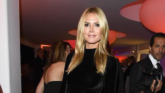 CAP DANTIBES, FRANCE - MAY 14:  Model Heidi Klum attends Vanity Fair and Chopard After-Party Celebrating the Cannes Film Festival at Hotel du Cap-Eden-Roc on May 14, 2016 in Cap dAntibes, France.  (Photo by George Pimentel/Getty Images)