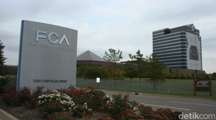 Markas FCA di Detroit, Amerika.