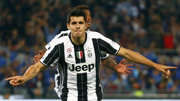 Alvaro Morata pernah bersinar di Juventus.
