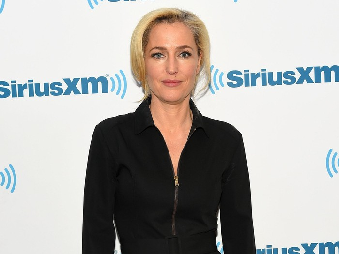 NEW YORK, NY - MARCH 23:  Actress Gillian Anderson visits at SiriusXM Studios on March 23, 2016 in New York City.  (Photo by Ben Gabbe/Getty Images)