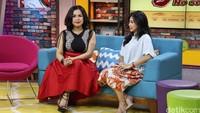 Melaney dan Feni Rose saat ditemui di Gedung Trans TV, Tendean, Jakarta Selatan. Pool/Ismail/detikFoto.