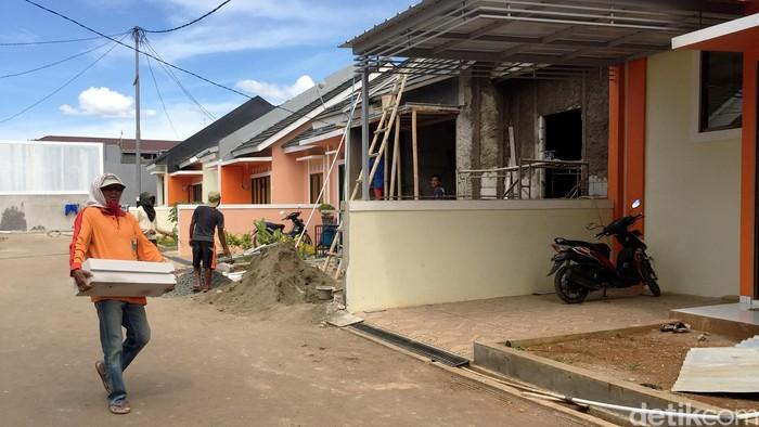 Ilustrasi Perumahan, KPR, kredit rumah, rumah kecil, cluster