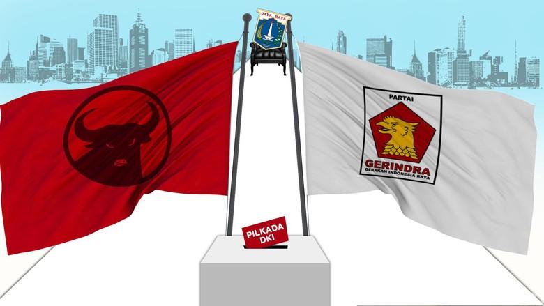 Head to Head dengan PDIP di DKI, Gerindra Klaim Unggul di Survei Internal