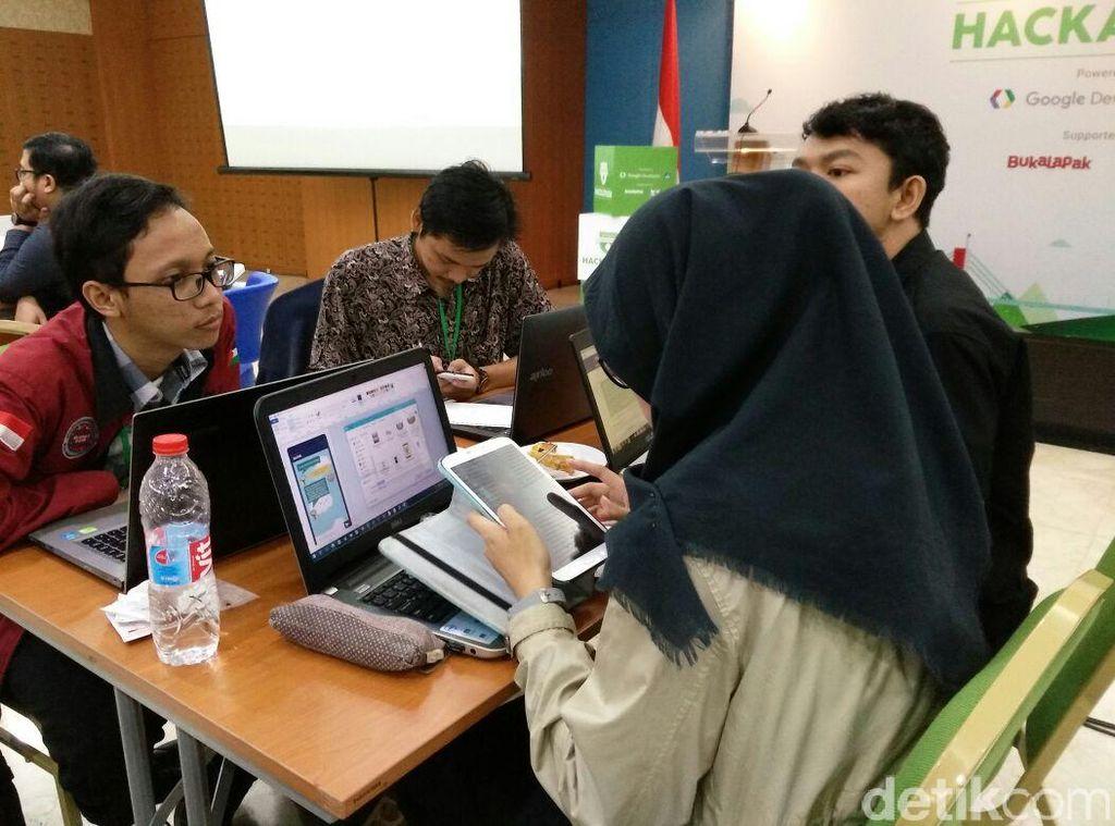 Saat kunjungan Presiden Jokowi ke Silicon Valley, Google telah berkomitmen untuk mencetak 100 ribu dengan program Hackathon Indonesia Android Kejar sebagai wadah para Developer di Indonesia. Foto: detikINET/Adi Fida Rahman