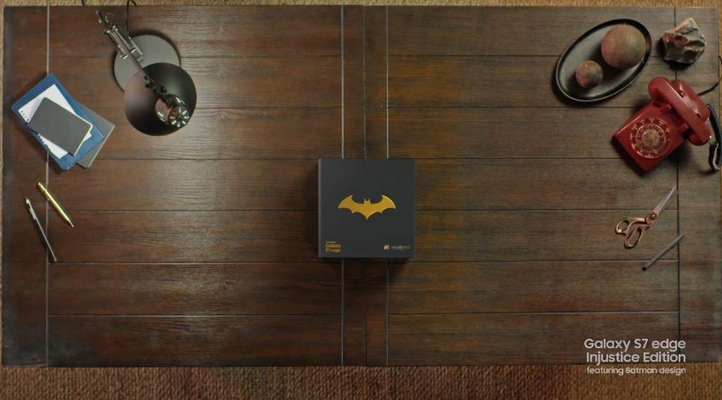 Galaxy S7 Edge edisi jagoan asal kota Gotham. Foto: samsung