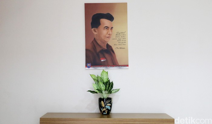 Foto ilustrasi: Lukisan bergambar Tan Malaka, pahlawan nasional Indonesia (Ari Saputra/detikcom))