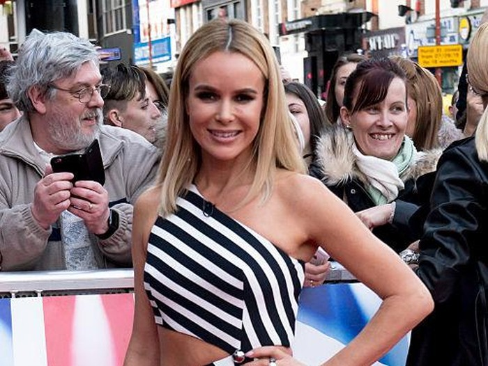 BIRMINGHAM, ENGLAND - FEBRUARY 04:  Amanda Holden arrives at Birmingham audtions for Britains Got Talent at Birmingham Hippodrome on February 4, 2016 in Birmingham, England.  (Photo by Richard Stonehouse/Getty Images)