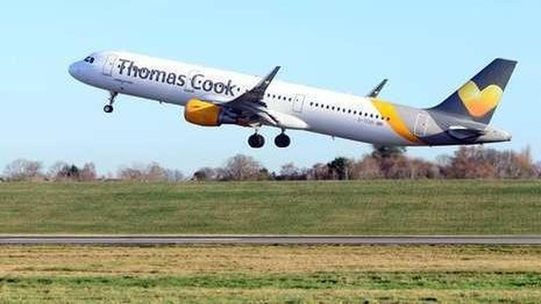 Ilustrasi pesawat maskapai Thomas Cook (dok Thomas Cook)