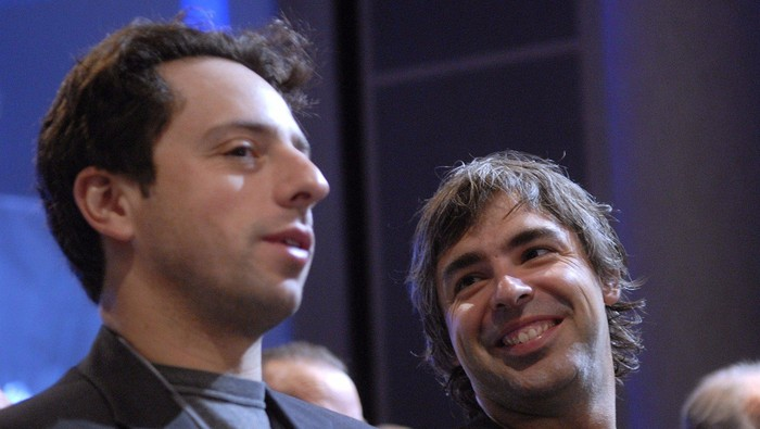 Sergey Brin dan Larry Page. Foto: Pool (Business Insider)
