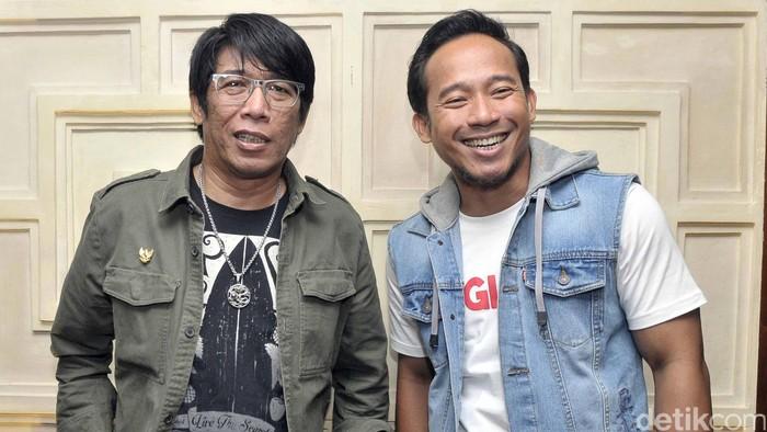 Parto & Denny Cagur di jumpa pers OVJ Sahur Lagi.