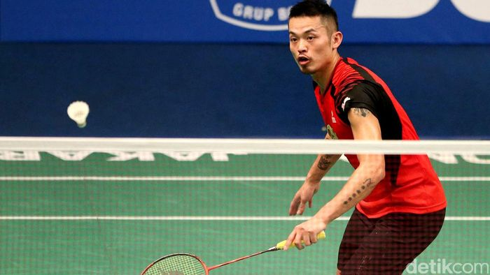 Lin Dan memastikan kemenangan China atas Hong Kong 3-0 di babak penyisihan Grup A Piala Sudirman 2017 (Foto: Grandyos Zafna/detikSport)