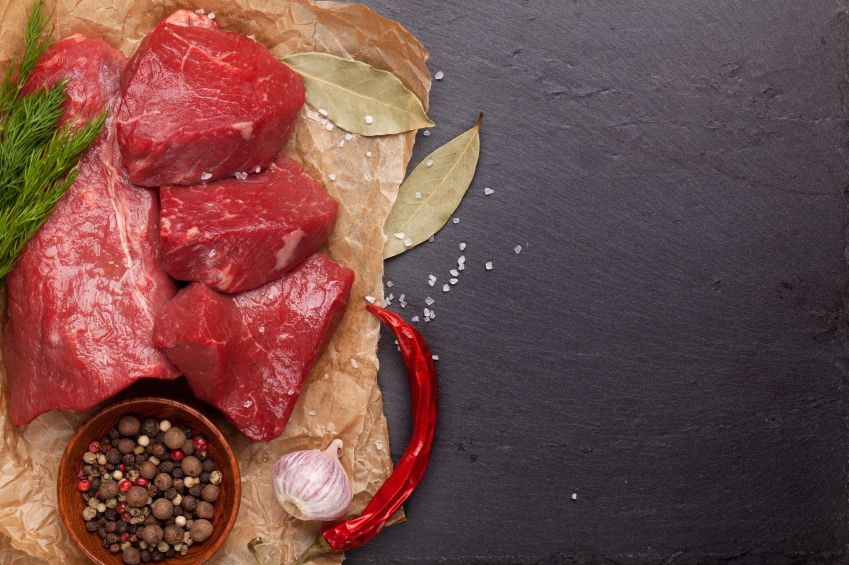 Raw Meat for Making Beef Stew.