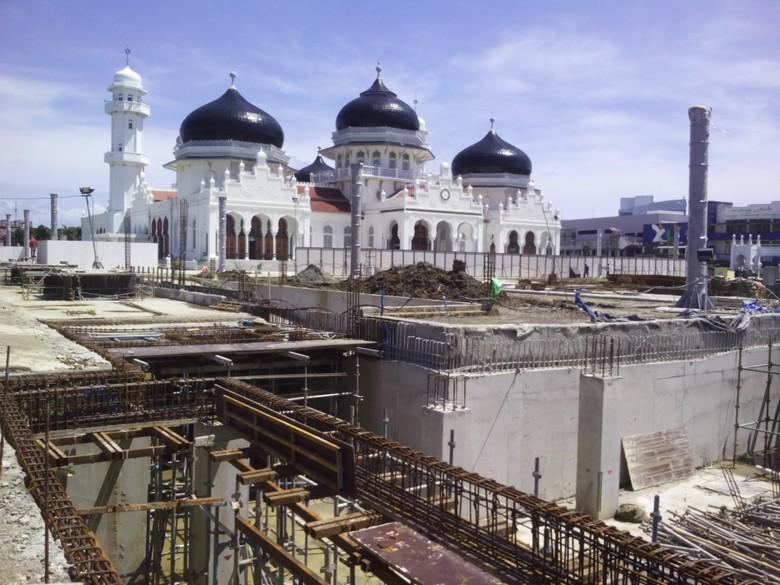 Masjid Baiturrahman Banda Aceh Dipermak, Bakal Miliki Payung Ala Masjid Nabawi