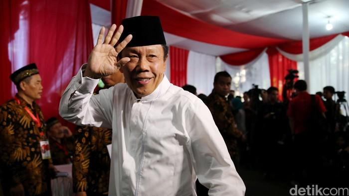 Kepala BIN Sutiyoso saat menghadiri haul Taufiq Kiemas ke-3 di Jakarta, Rabu (8/6/2016).
