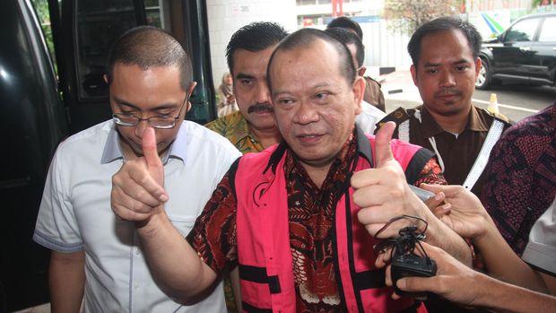 La Nyalla divonis bebas dari tudingan korupsi dana hibah Kadin Jawa Timur.