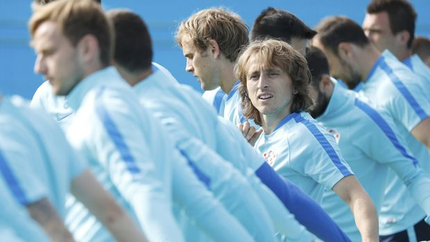 Luka Modric menjadi salah satu pemain penting di timnas Kroasia.