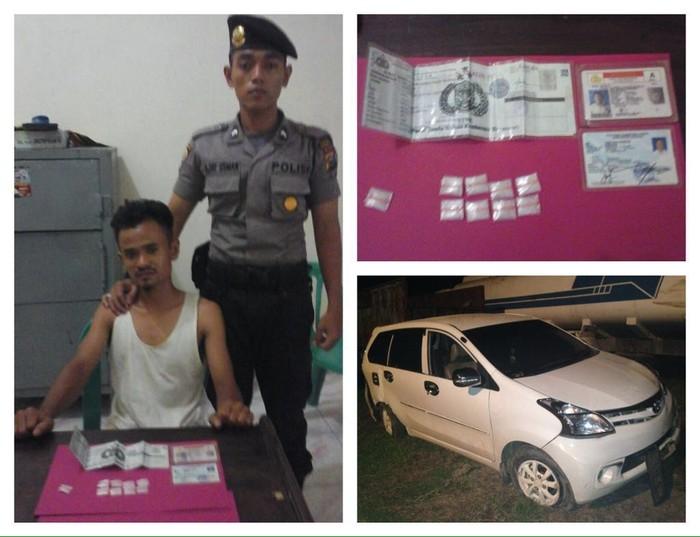 Hendak Ditangkap Bandar Narkoba Coba Tabrak Anggota Polres Rohil Dengan Mobil