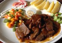 ilustrasi bistik daging kambing
