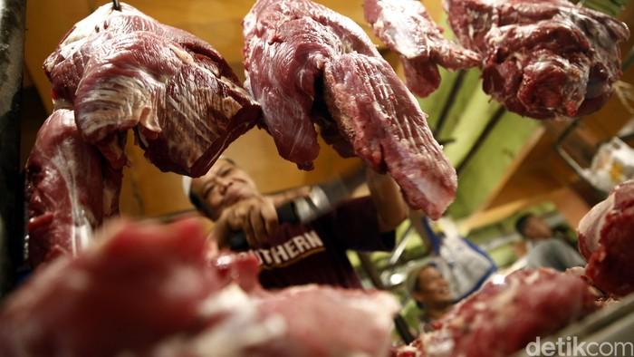 Ilustrasi penjual daging sapi. (Foto: Rachman Haryanto/detikcom)