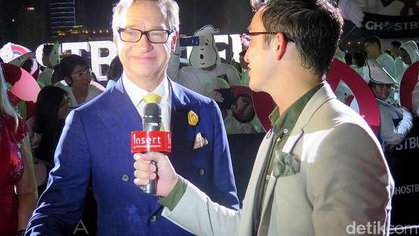 Melissa McCarthy Ramaikan Red Carpet Ghostbusters di Singapura