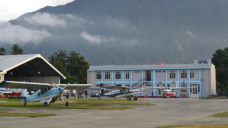 Foto: Ilustrasi - Pesawat-pesawat Cessna 208B di Sentani, Jayapura (Facebook AMA)