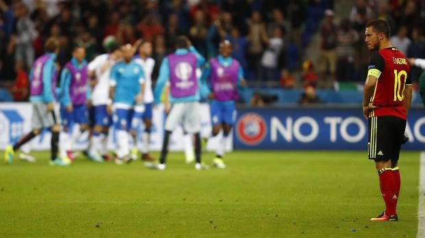 Eden Hazard turut tampil ketika Belgia menghadapi AS di perdelapan final Piala Dunia 2014.