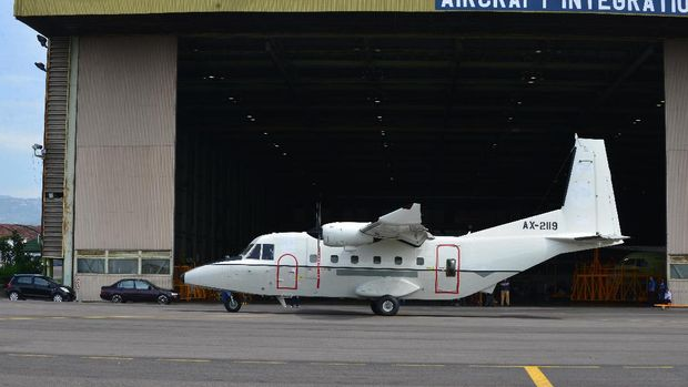 Pesawat NC212 buatan PTDI
