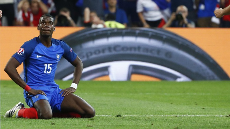 Football Soccer - France v Albania - EURO 2016 - Group A - Stade Vlodrome, Marseille, France - 15/6/16 Frances Paul Pogba reacts after shooting over REUTERS/Eddie Keogh Livepic