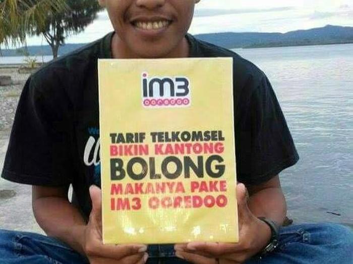 Salah satu sindiran Indosat ke Telkomsel (dok.Internet)