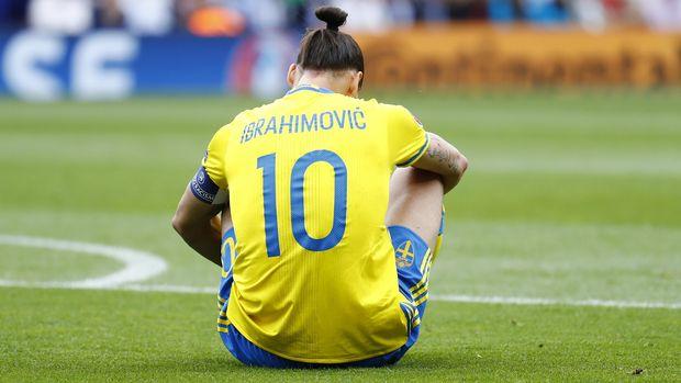 Zlatan saat masih berseragam timnas Swedia di Euro 2016.