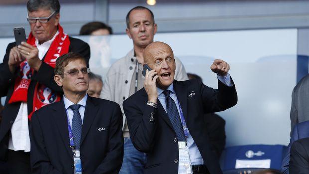 Ketua Komite Wasit FIFA Pierluigi Collina.