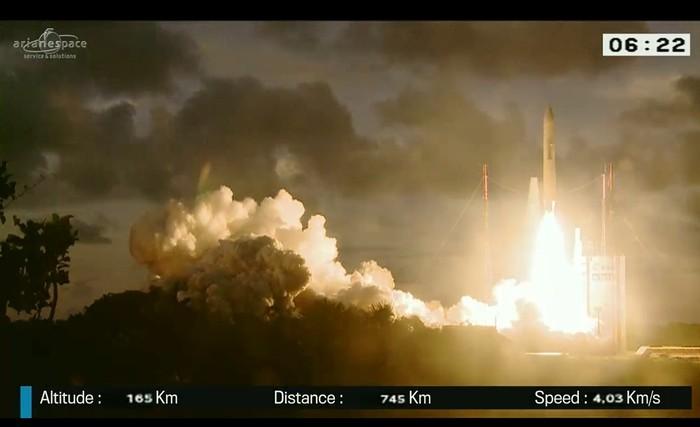 Foto: Peluncuran satelit BRIsat (foto: Ariane Space)