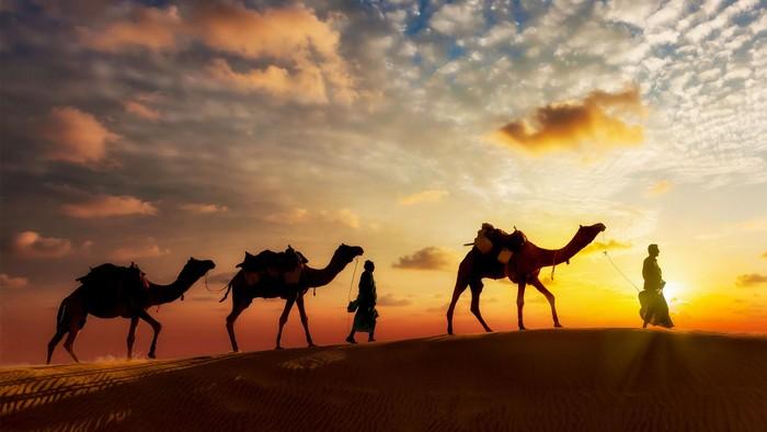 Ilustrasi padang pasir di timur tengah