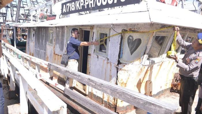 Kapal-kapal yang disita Satgas Illegal Fishing 115