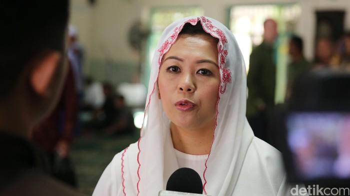 Yenny Wahid di Masjid Al Fataa, Menteng, Jakarta, Selasa (28/6/2016).
