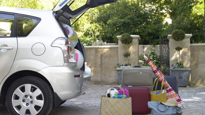 Ilustrasi mudik dengan mobil pribadi