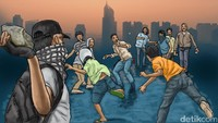 Terjadi Lagi Tawuran di Tengah Pandemi Corona, Kini di Tebet