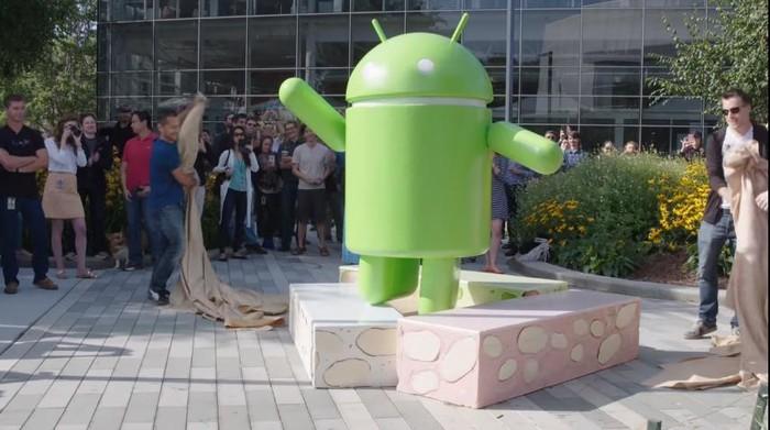 Patung Android. Foto: Screenshot YouTube