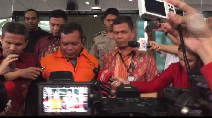 Foto: Santoso resmi ditahan KPK (Iswahyudy/detikcom)
