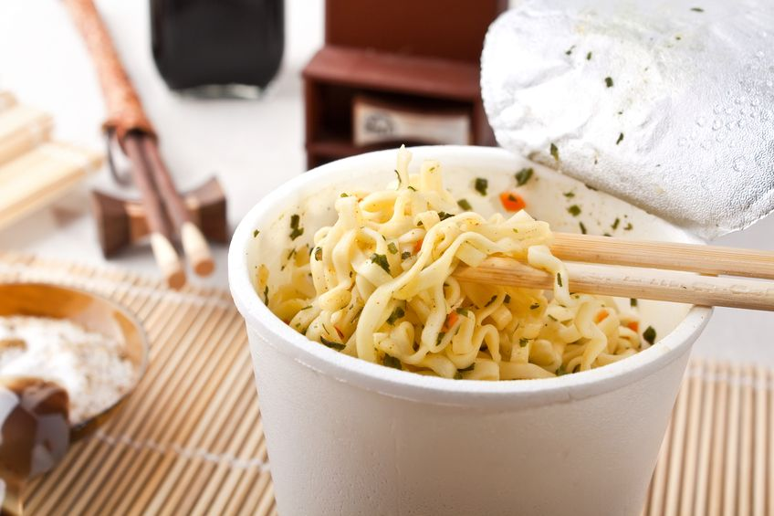 Instant Udon Noodle Soup at your Desk - Photographed on a Hasselblad H3D11-39 megapixel Camera System