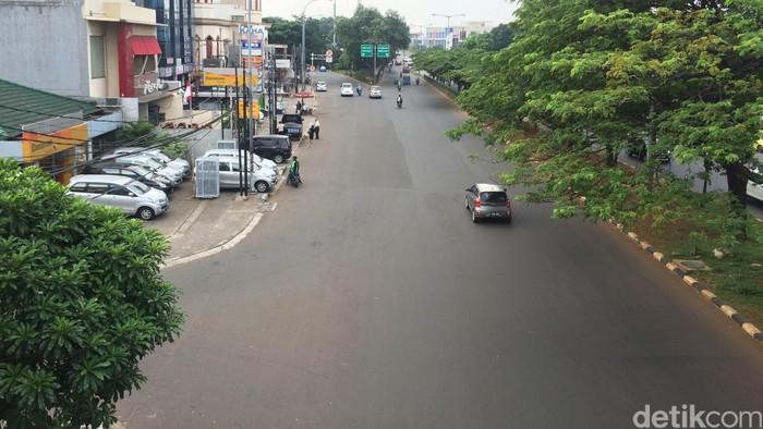Kondisi lalu lintas di Tebet (Foto: Bisma Alief/detikcom)