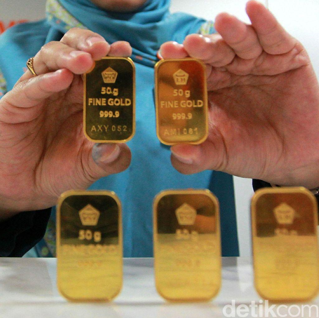 Harga Emas Antam Turun Lagi ke Rp 671.000/Gram