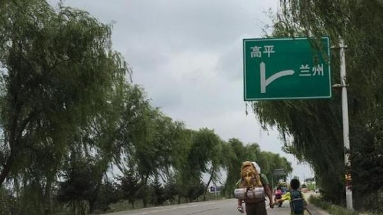 Foto: Perjalanan Pu Wei dan Dou Ge (greenants/Weibo)