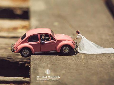 Inspirasi Foto Pre Wedding Fotografer Ubah Pasangan Jadi Manusia Mini