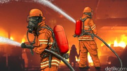Titik Api di Lantai 1 Gedung Kemensos Padam, Petugas Sisir Lantai 2 dan 3