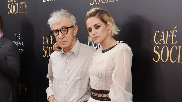 NEW YORK, NY - JULY 13:  Woody Allen and Kristen Stewart attends the premiere of