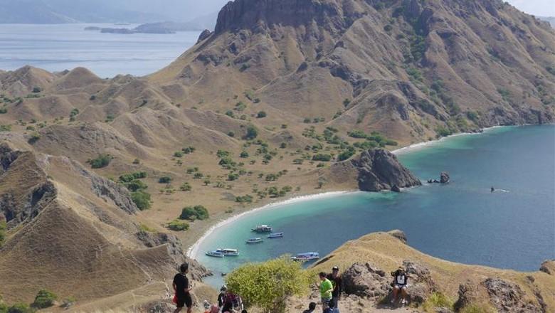 Pulau Padar yang indah di dalam kawasan Taman Nasional Komodo (Kurnia/detikTravel)